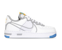 Nike Air Force 1 React White Light Smoke Grey University Gold CT1020 100