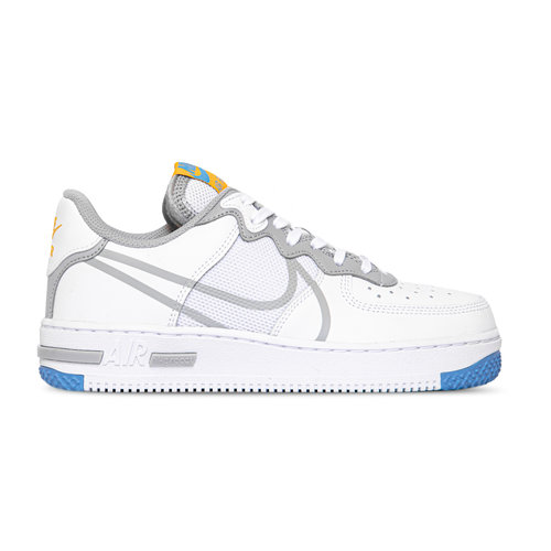 Air Force 1 React White Light Smoke Grey University Gold CT1020 100