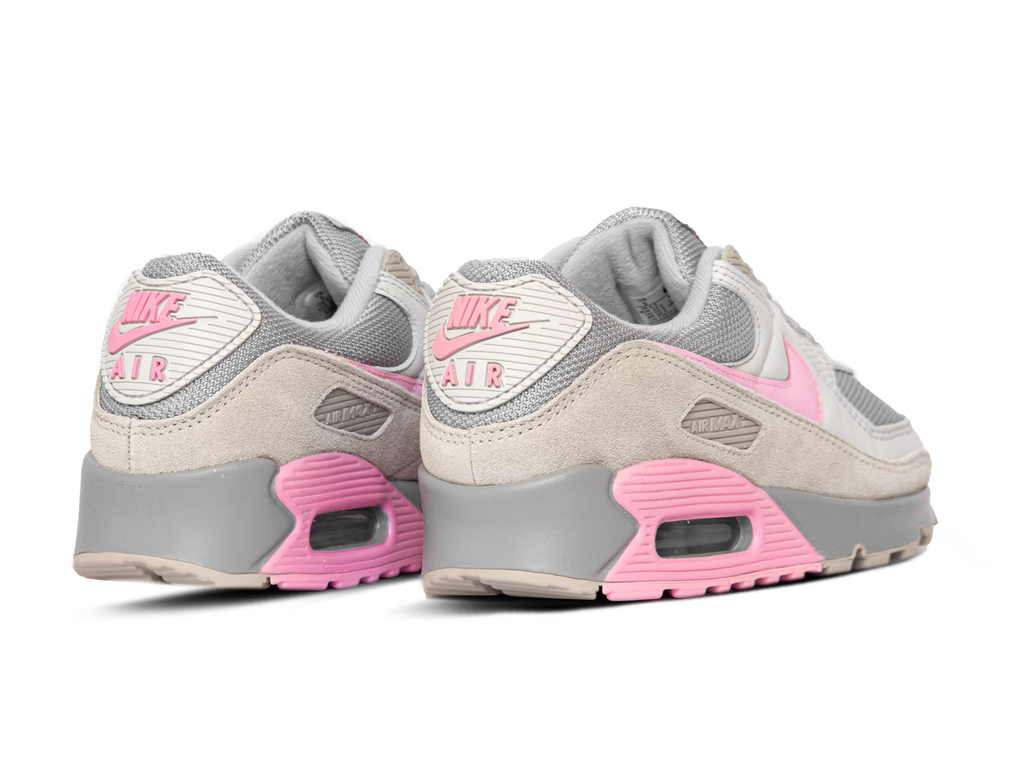 Altoparlante Escalofriante Vandalir  Air Max 90 Vast Grey Pink Wolf Grey String CW7483 001 - Bruut Sneakers &  Clothing Store