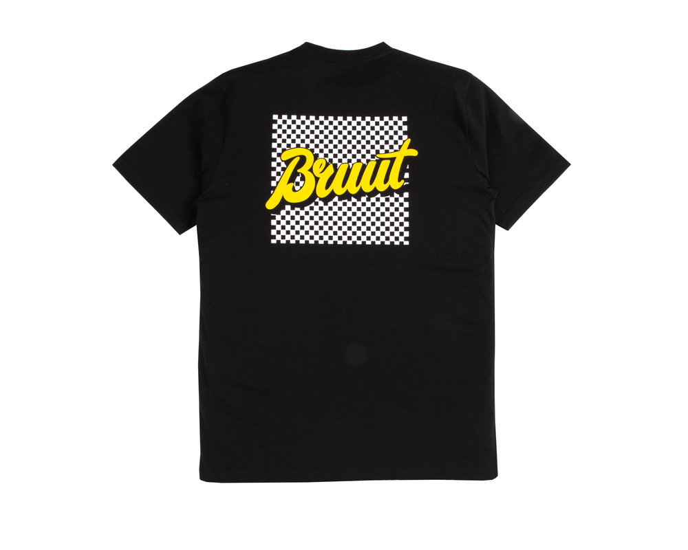 Bruut Grid Tee Yellow HFD105