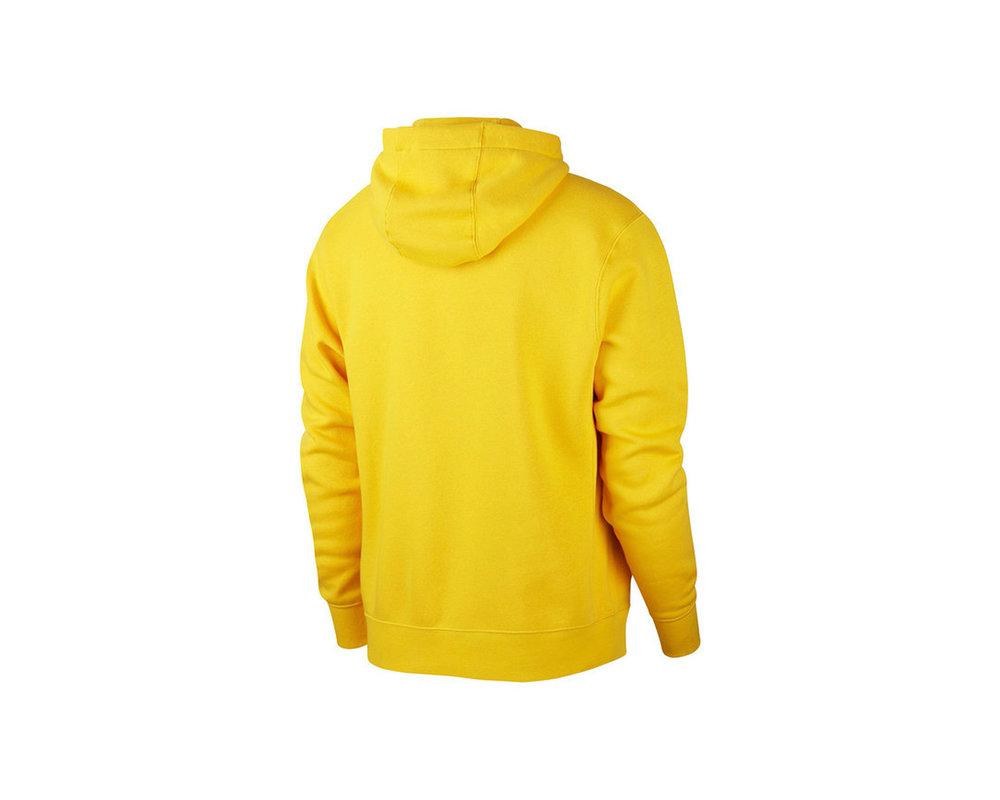 Nike NSW Club Fleece Hoodie Opti Yellow White BV2654 731