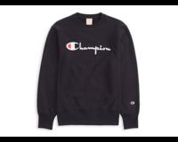 Champion Crewneck Sweatshirt Logo Black 212576 S19 KK001
