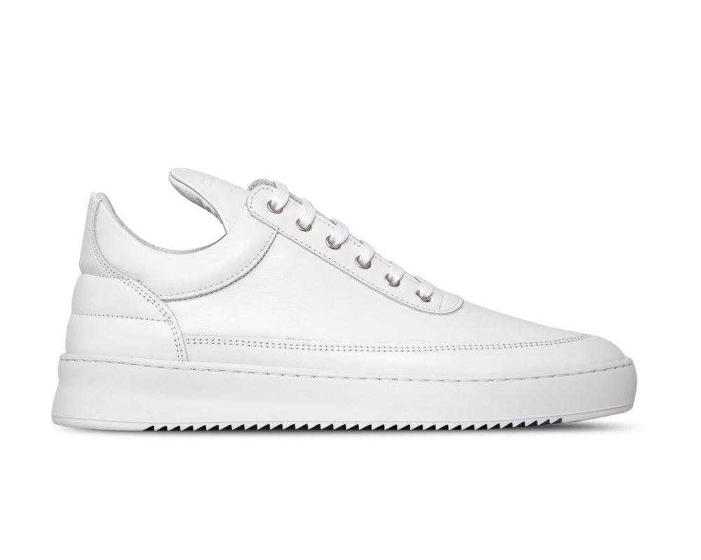 Filling Pieces Low Top Ripple Lane Nappa All White 2512172 1855