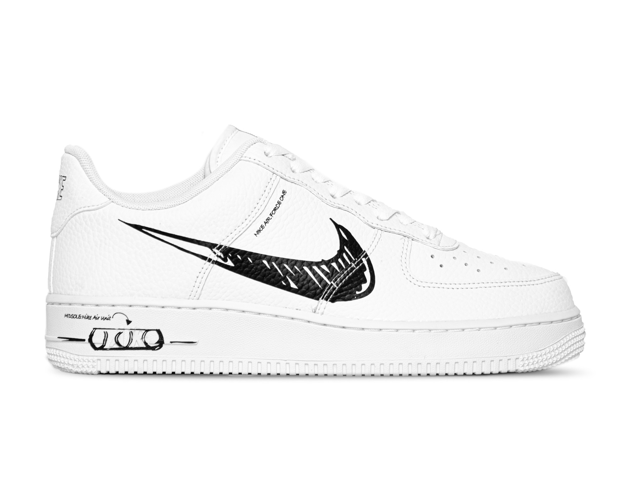 Nike Air Force 1 LV8 Utility White Black White CW7581 101 | Bruut