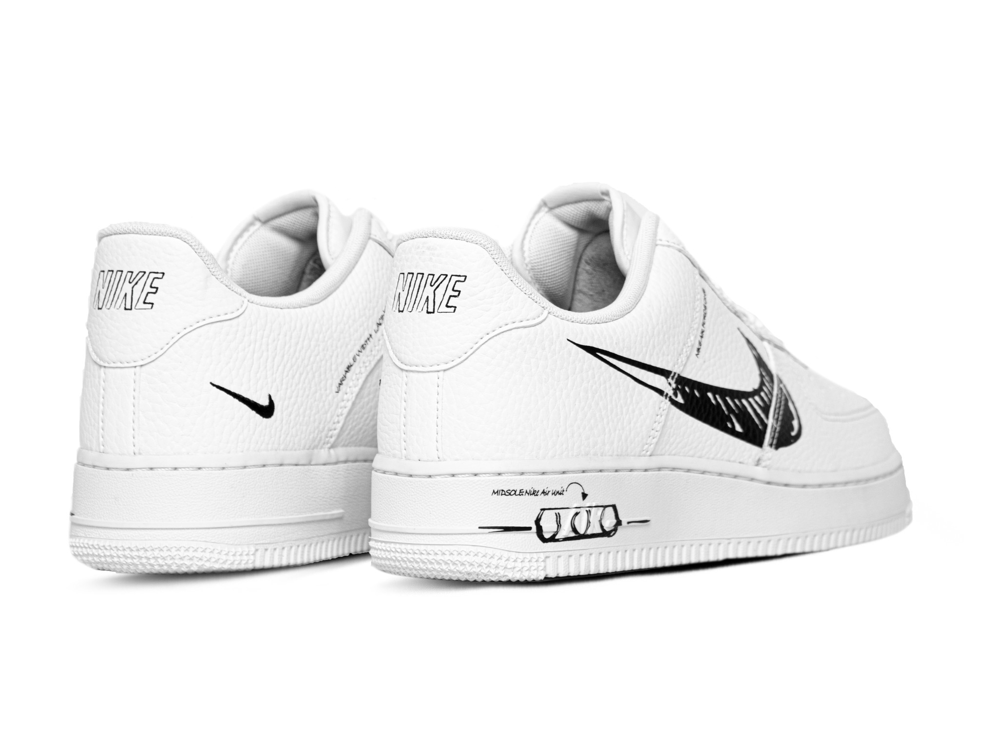 Nike Air Force 1 LV8 Utility White Black White CW7581 101