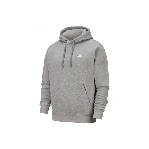 NSW Club Fleece Hoodie DK Grey Heather Matte Silver White BV2654 063