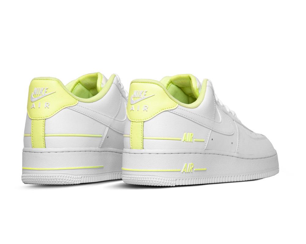 Nike Air Force 1 07 LV8 3 White Barely Volt CJ1379 101