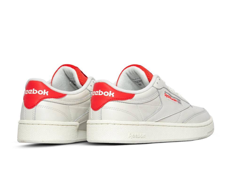 Reebok Club C 85 Shoes Chalk Radiant Red Humble Blue EF3251