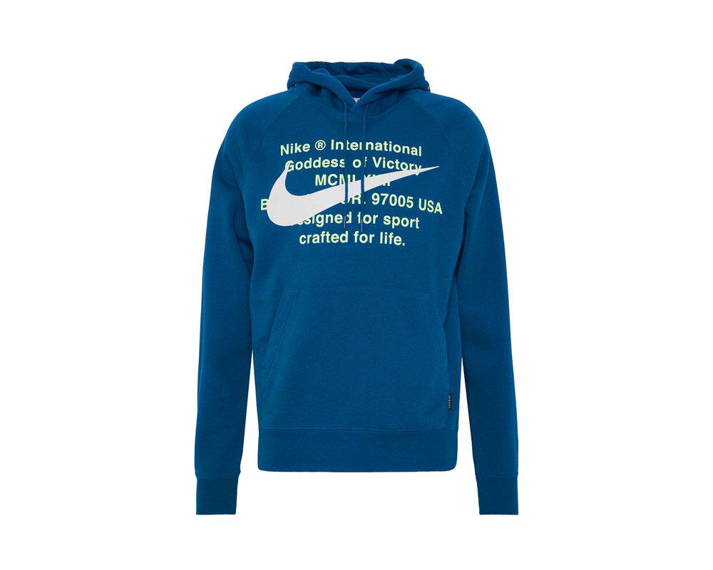 Nike NSW Swoosh Hoodie Blue Force White CJ4863 499