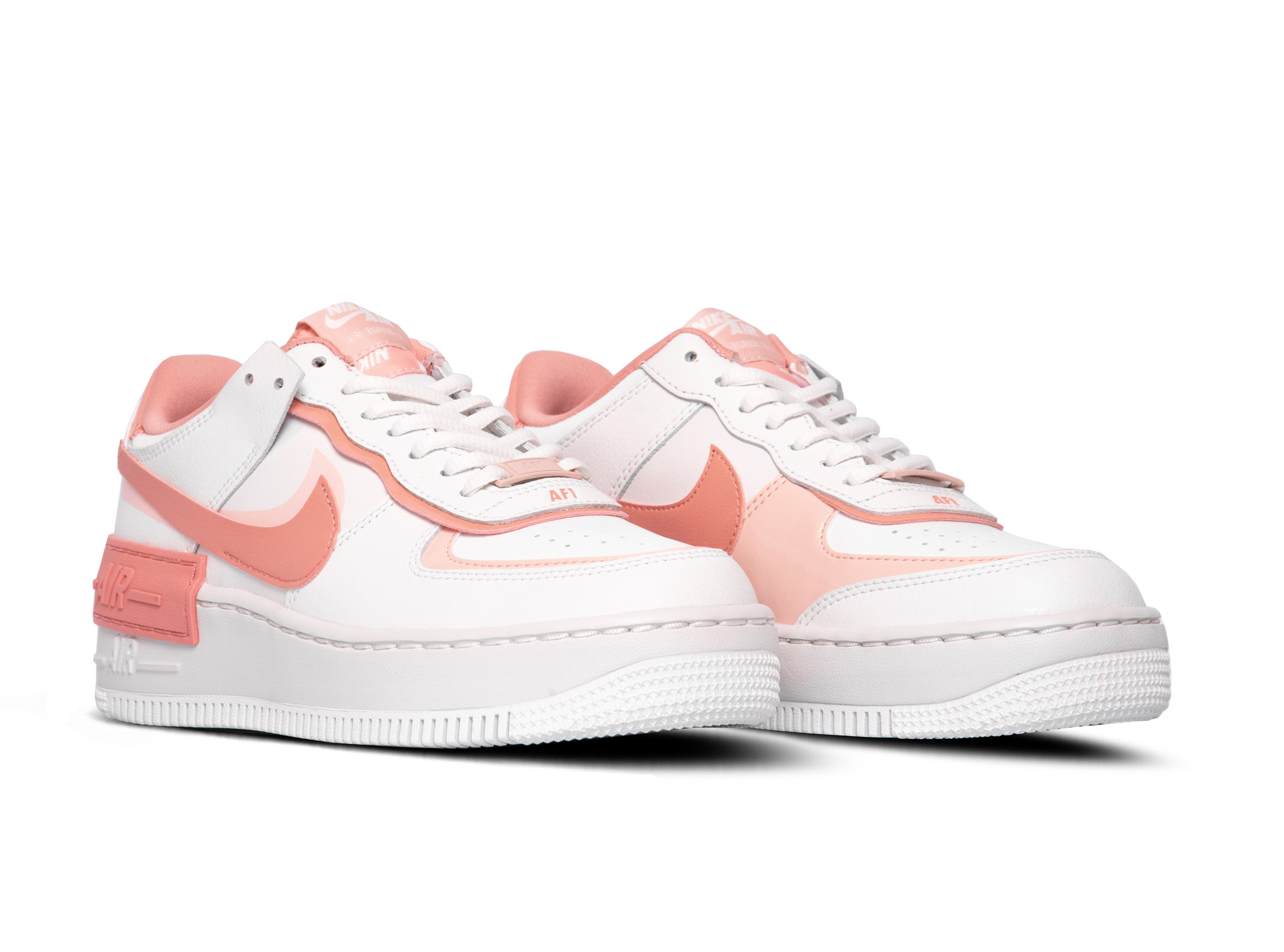 Nike Air Force 1 Shadow Summit White Pink Quartz Washed Coral CJ1641 101  CJ1641-101