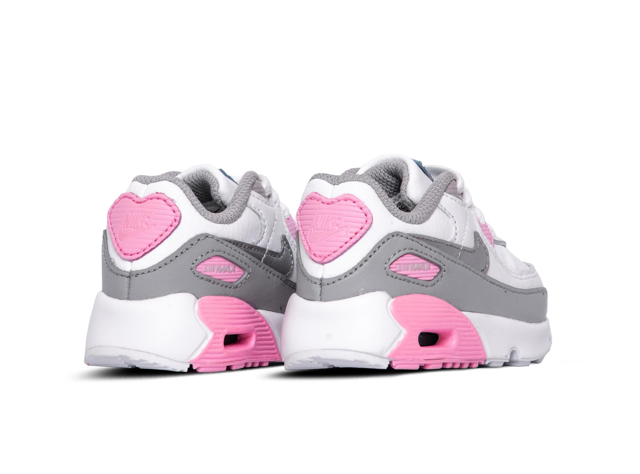 Nike Air Max 90 LT Smoke Grey Metallic Silver White Pink CD6868 004