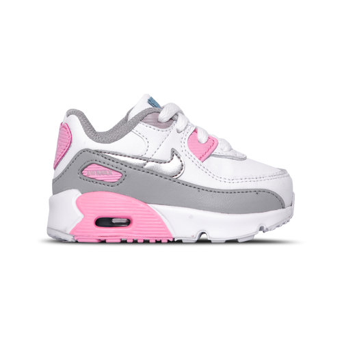 Air Max 90 LT Smoke Grey Metallic Silver White Pink CD6868 004