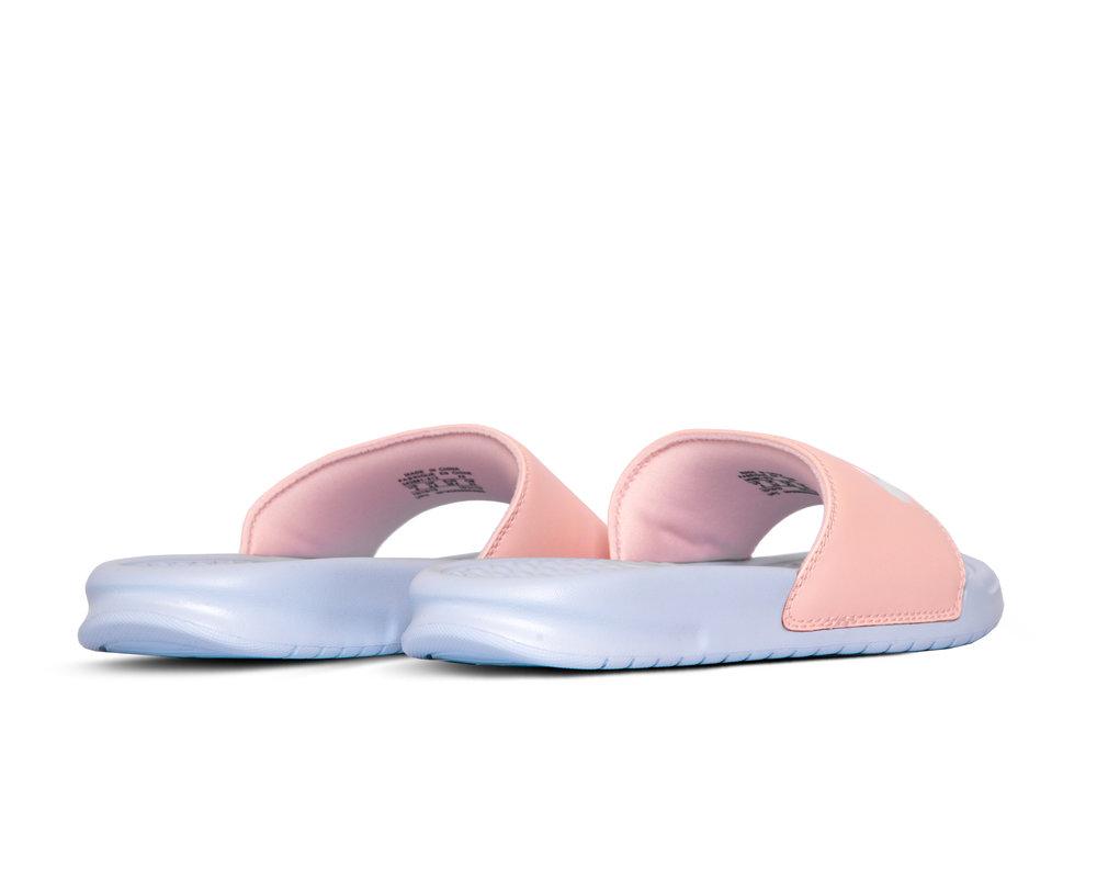 Nike Benassi JDI Hydrogen Blue White Washed Coral 343881 412