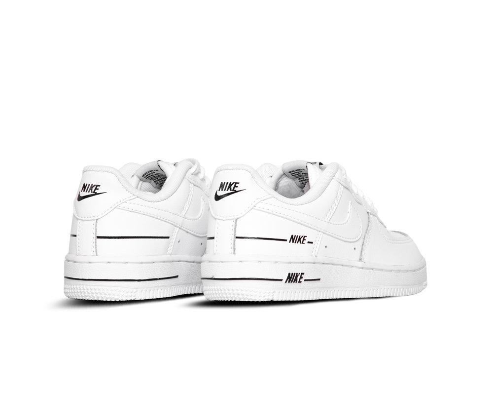 Nike Force 1 LV8 3 PS White White Black CJ4113 100