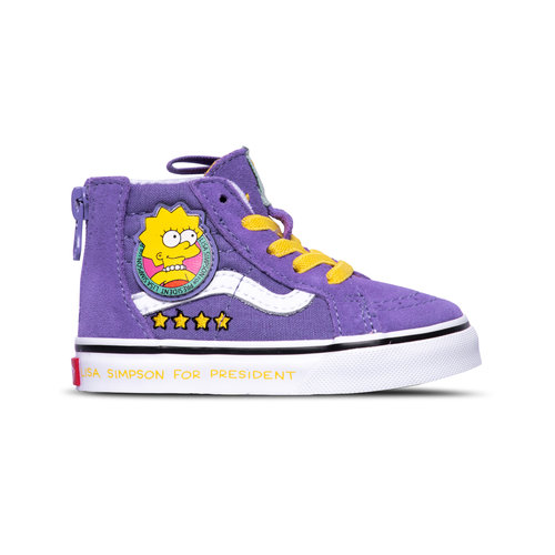 TD SK8 Hi Zi p Vans X The simpsons Lisa 4 Prez VN0A4BV117G1
