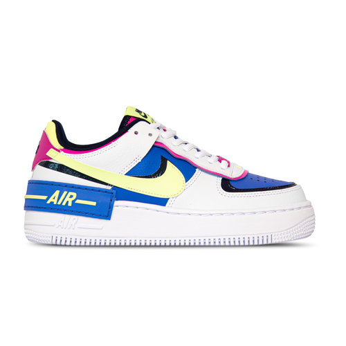 Air Force 1 Shadow  White Barely Volt Sapphire Fire Pink CJ1641 100