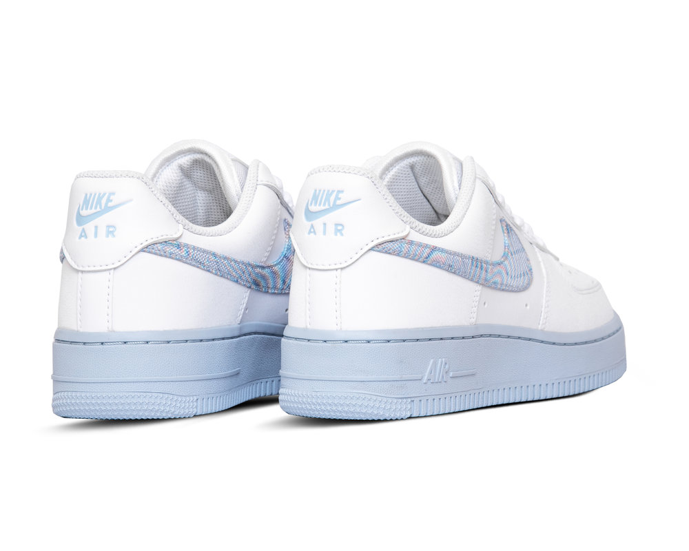 Nike W Air Force 1 07  White Hydrogen Blue Laser Blue CZ0377 100