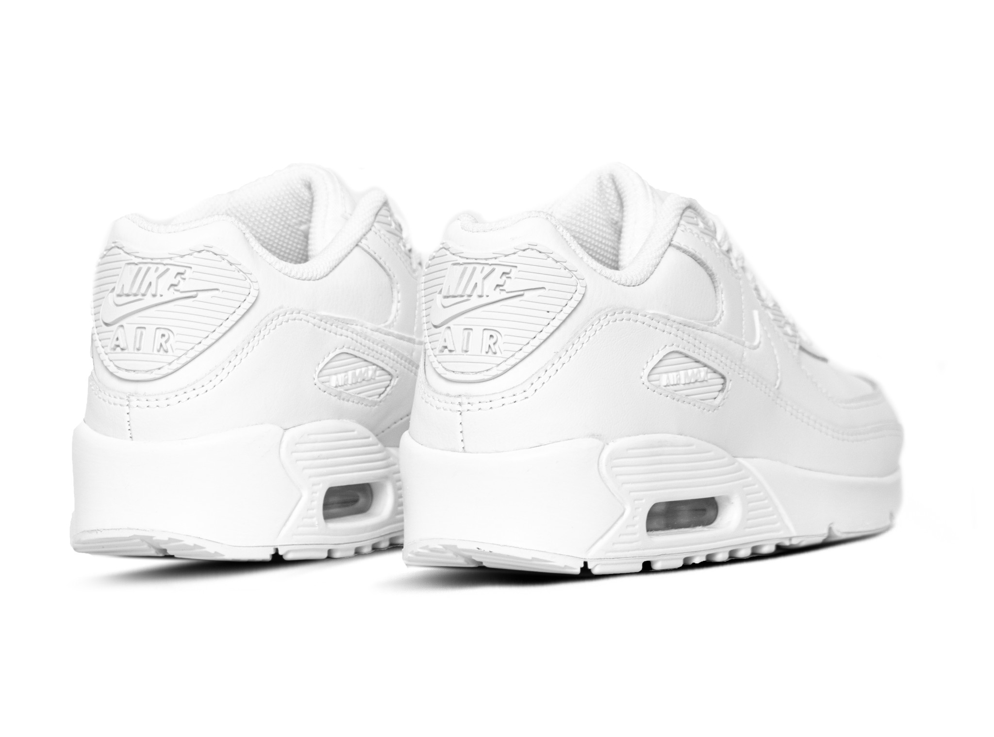 Nike Air Max 90 GS LTR White White Metallic Silver White CD6864 100