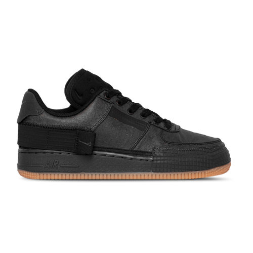 Air Force 1 Type 1 Black Anthracite Gum Light Brown CJ1281 001