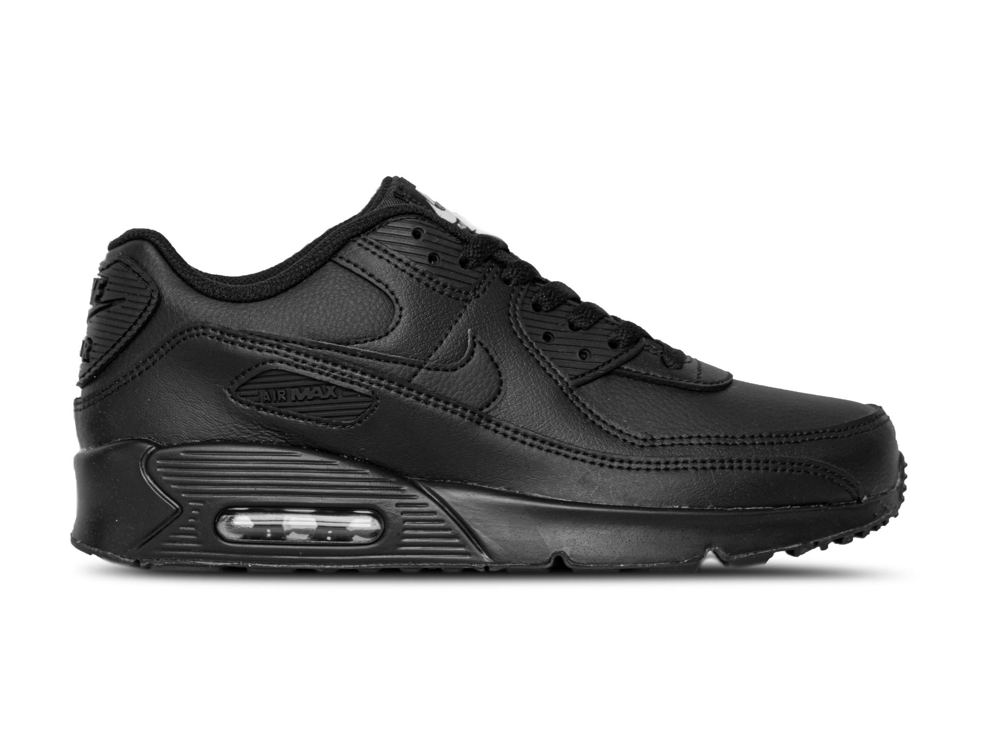 Nike Air Max 90 GS LTR Black Black White CD6864 001 | Bruut