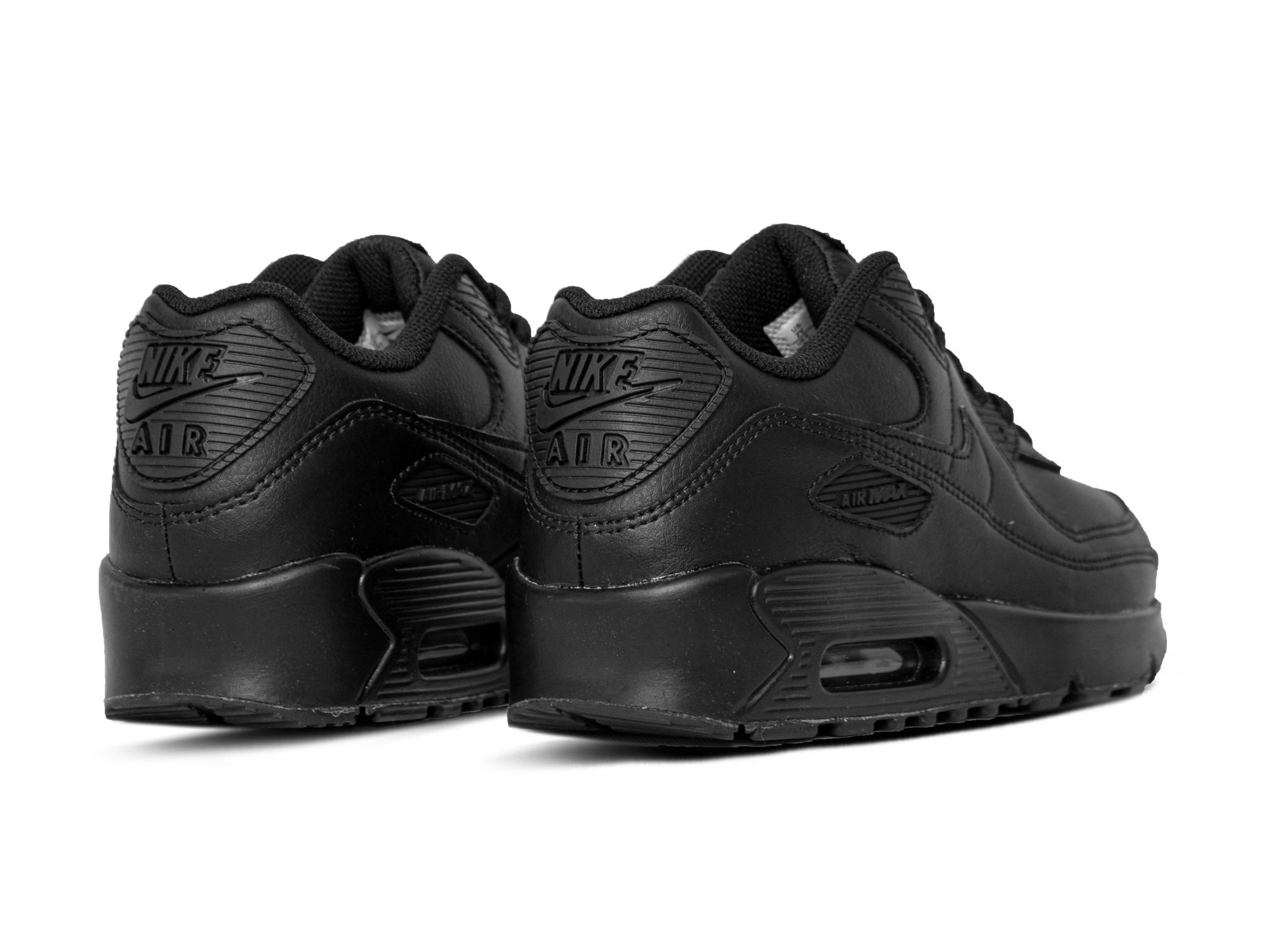 Nike Air Max 90 GS LTR Black Black White CD6864 001