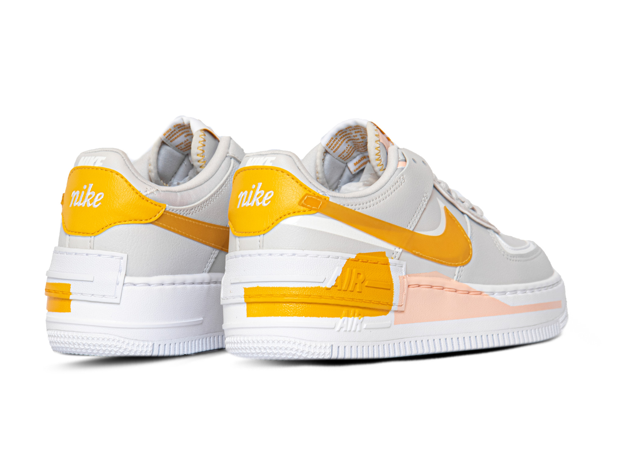Wmns Air Force 1 Shadow Se Grey Pollen Washed Coral White Cq9503