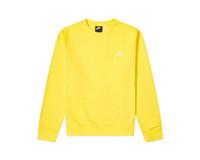 Nike NSW Sportswear Club Crewneck Opti Yellow White BV2662 731