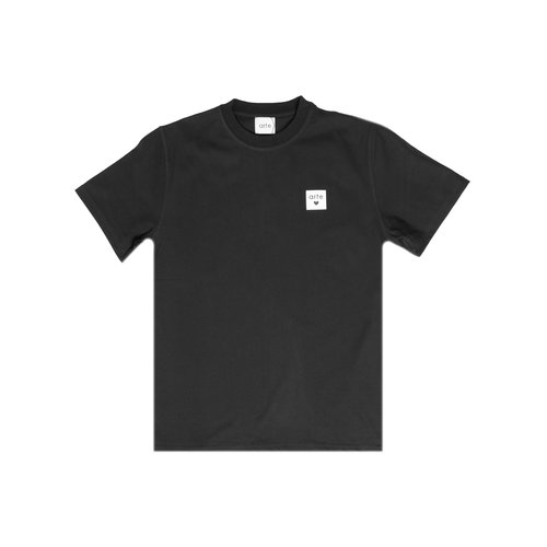Toby Heart Label Tee Black AW20 004BT