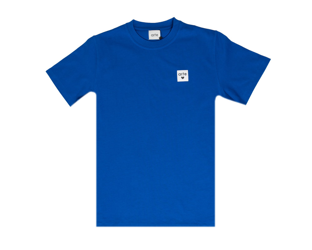 Arte Antwerp Toby Heart Label Tee Royal Blue AW20 003T