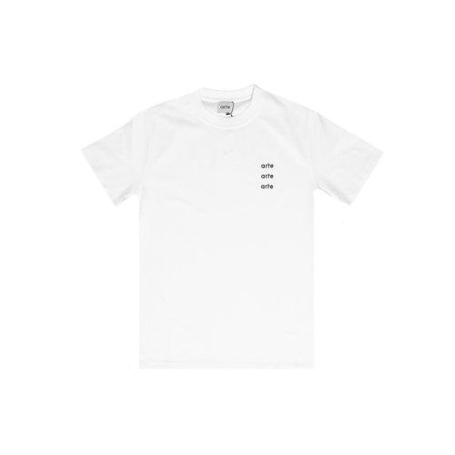 Toby Multi Logo Tee White AW20 005T