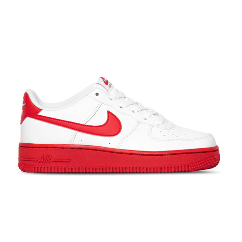 Air Force 1 GS White University Red White CV7663 102