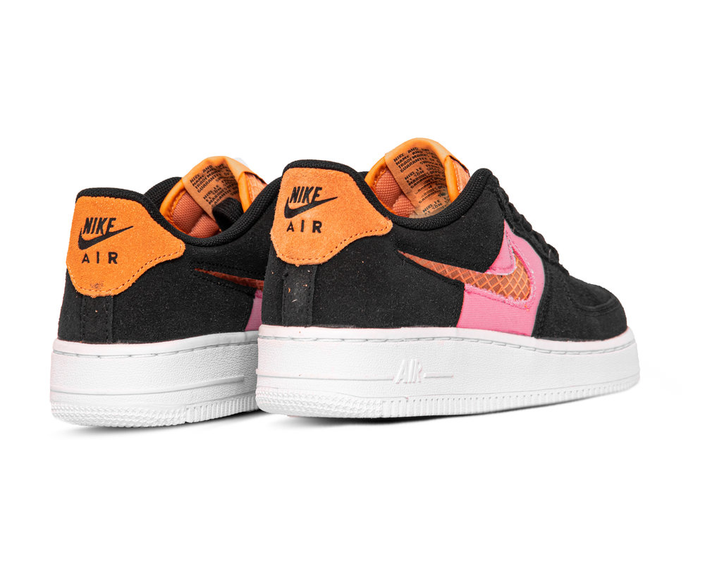 Nike Air Force 1 GS LV8 Black Orange Trance Lotus Pink White CJ4093 002