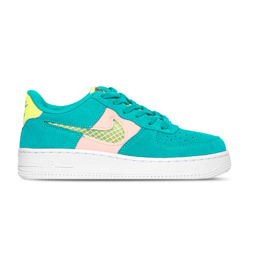 Air Force 1 GS LV8 Oracle Aqua Ghost Green Washed Coral CJ4093 300