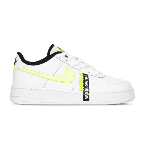 Air Force 1 GS LV8 1 White Barely Volt Black CN8536 100