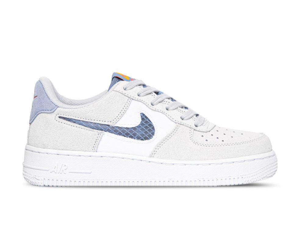Nike Air Force 1 GS LV8 Pure Platinum Indigo Fog White CJ4093 001