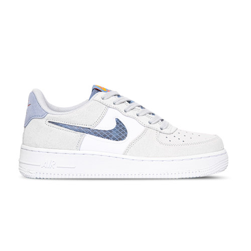 Air Force 1 GS LV8 Pure Platinum Indigo Fog White CJ4093 001