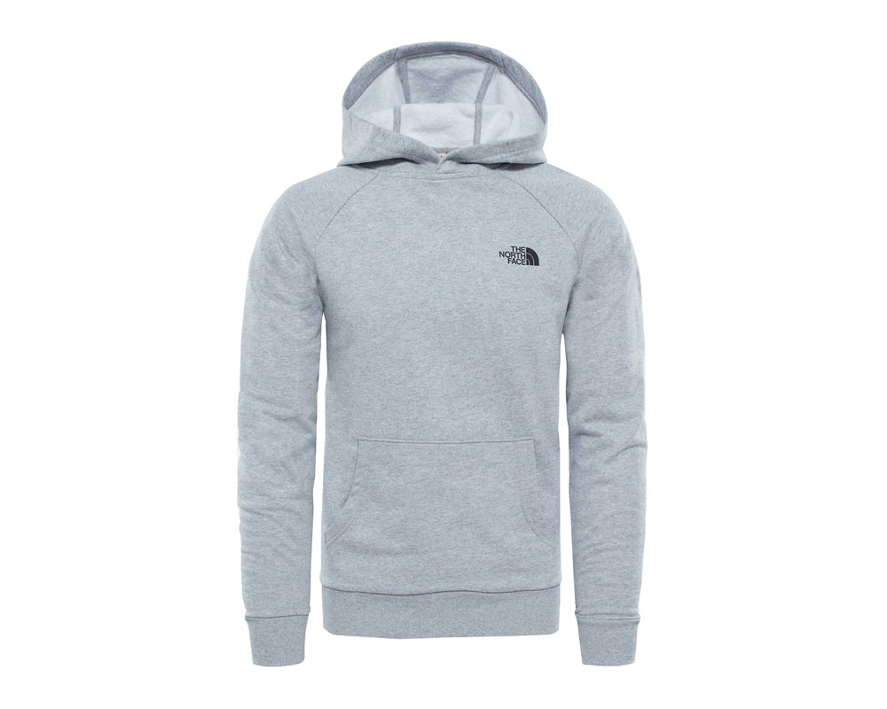 The North Face Raglan Red Box Hoodie Light Grey Heather NF0A2ZWUDYX1