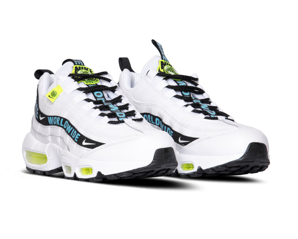 Nike Air Max 95 SE White Blue Fury Volt Black CT0248 100