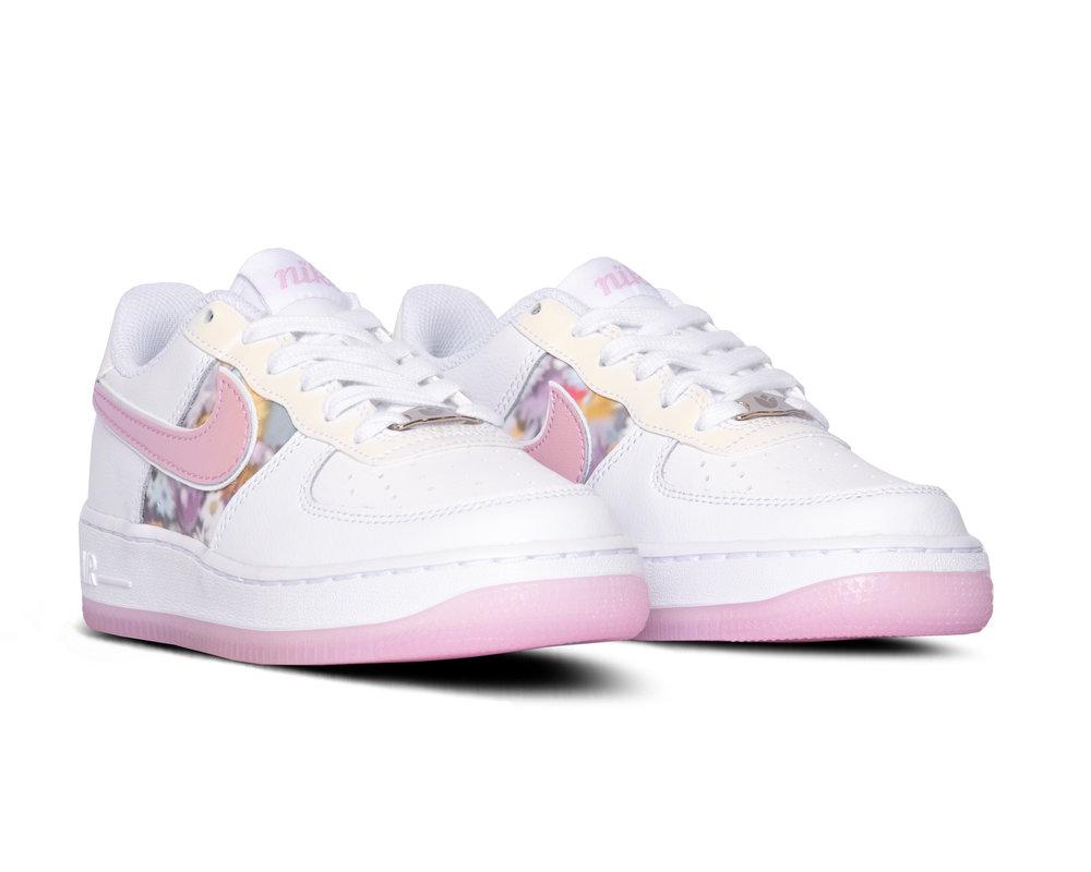 Nike Air Force 1 GS White LT Arctic Pink Metallic Silver CN8535 100