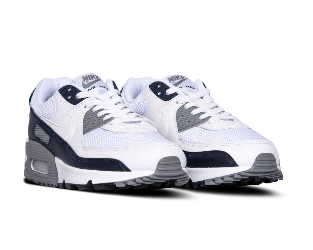 Nike Air Max 90 White Particle Grey Obsidian CT4352 100