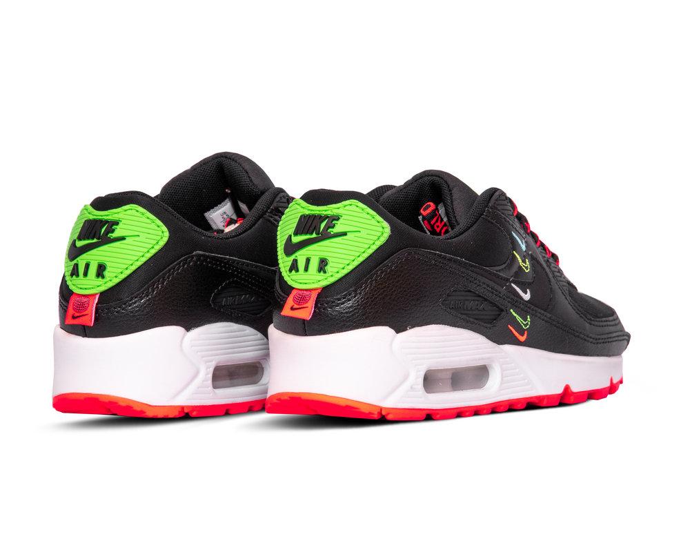 Nike Air Max 90 SE Black Flash Crimson Green Strike CK7069 001
