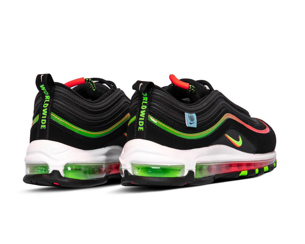 Nike Air Max 97 SE Black Green Strike Flash Crimson White CZ5607001