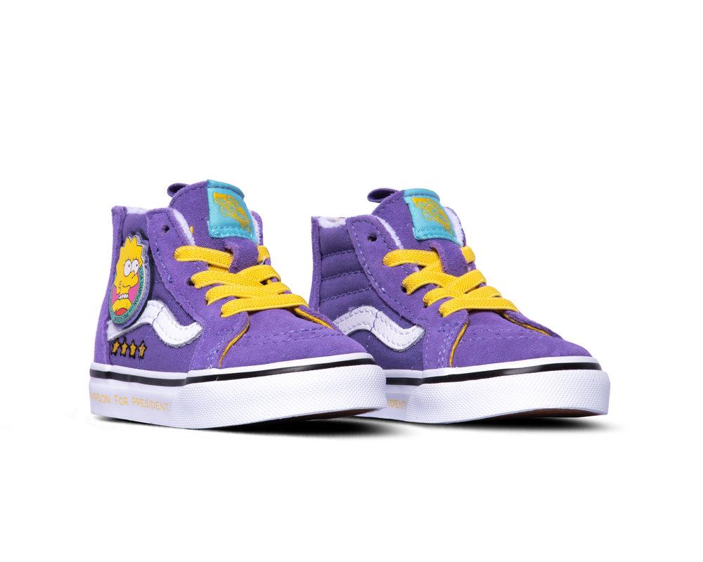 Vans x The Simpsons SK8 Hi Zip YK Lisa 4 Prez VN0A4BV117G1