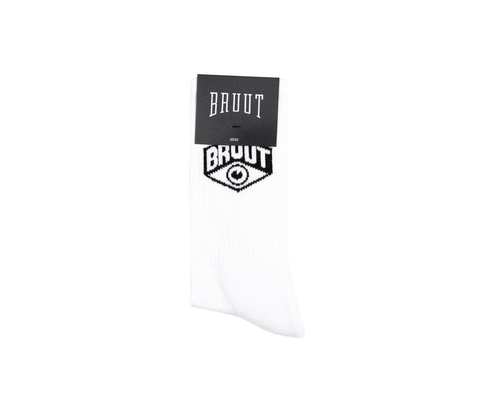 Bruut Eye Sock White BT013