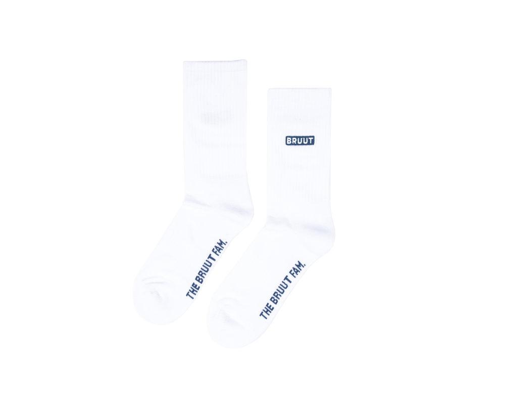 Bruut Double Up Sock White BT001