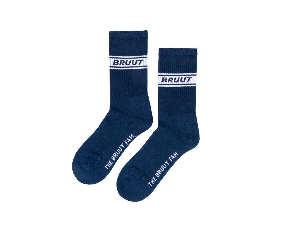Bruut Retro Sock Navy BT017