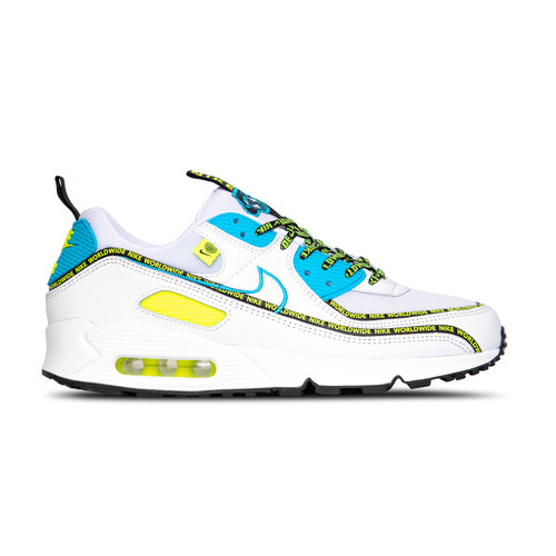 Air Max 90 SE Worldwide White Blue Fury Black Volt CZ6419 100