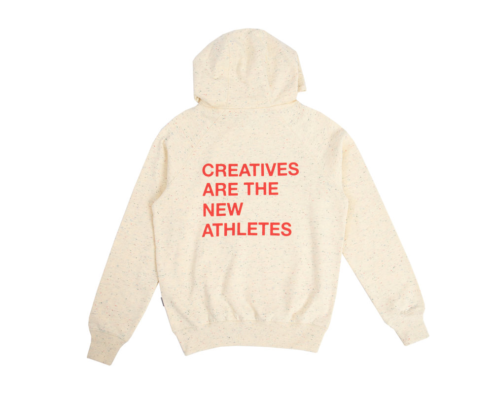The New Originals Creatives Are The New Athletes Hoodie Speckled Creme TNO24