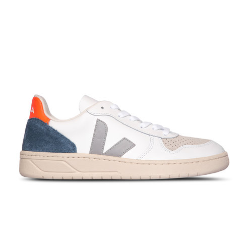 V 10 Leather Extra White Oxford Grey Orange Fluo VX022303A