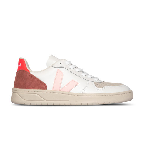 V 10 Leather Extra White Petale Rose Fluo VX022292A